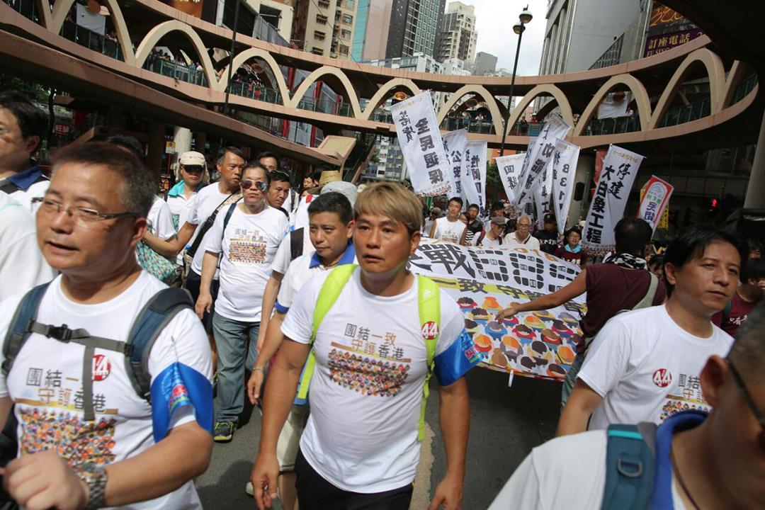 民間人權陣線發起的七一遊行正式由維園出發。