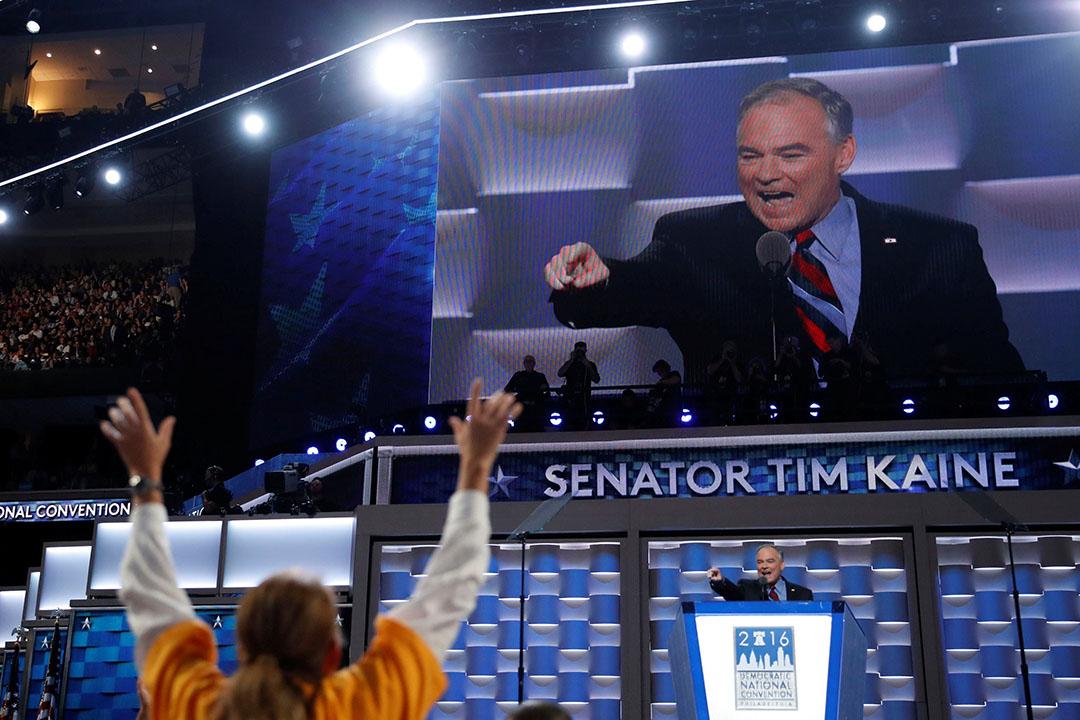 美國民主黨副總統參選人凱恩(Tim Kaine)。