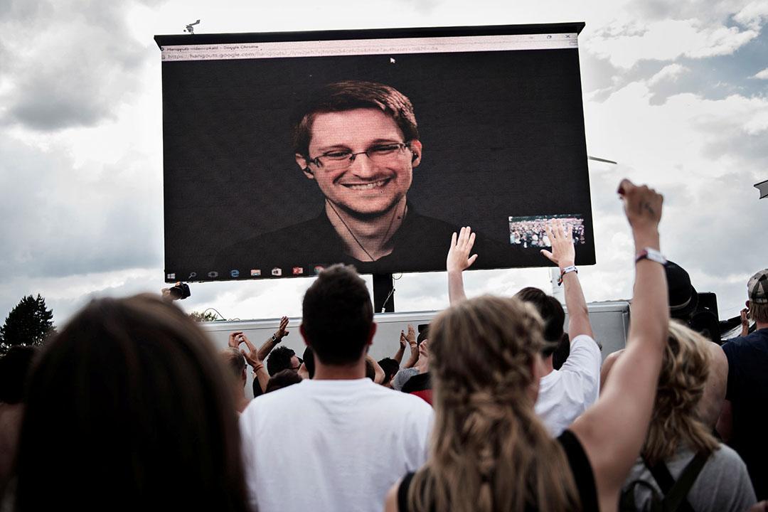 斯諾登舉行公眾視像會議。