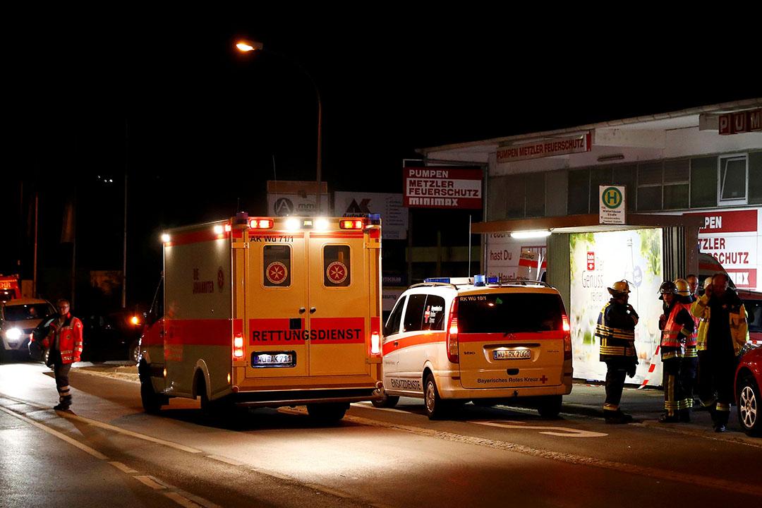 德國火車斧頭砍人事件現場。