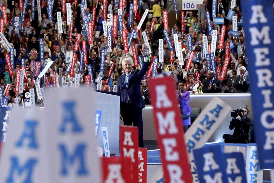 2016年7月26日,克林頓出席民主黨全國代表大會。
