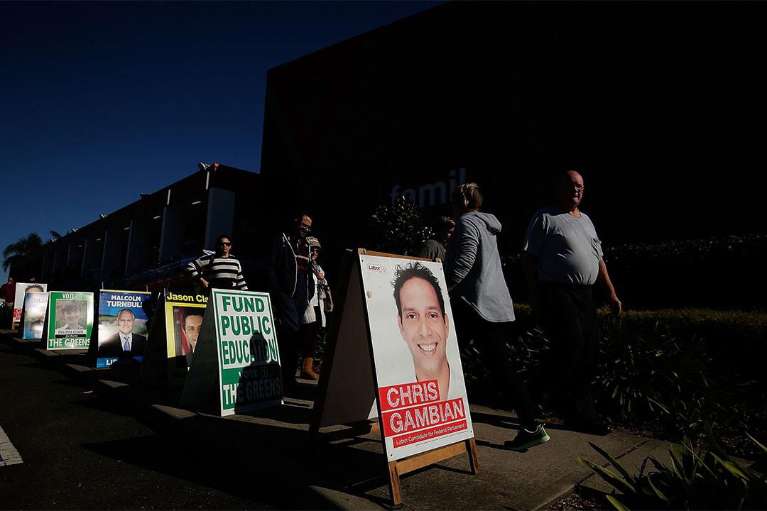 2016年7月2日,選民到達悉尼一個投票站,準備選舉出第45屆議會。