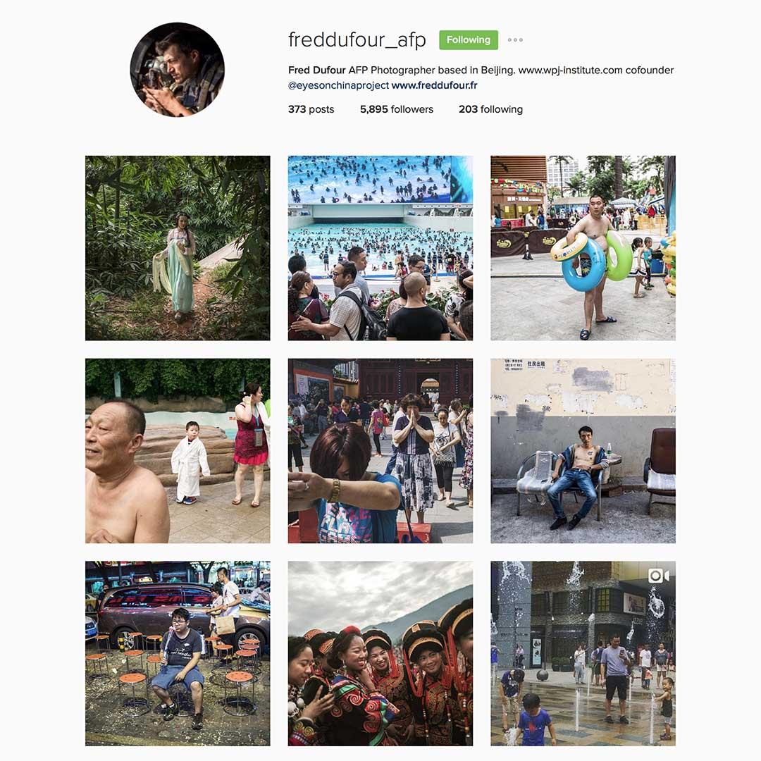 Fred Dufour (@freddufour_afp),法新社駐北京攝影師,Instagram #eyeonchina創辦成員。