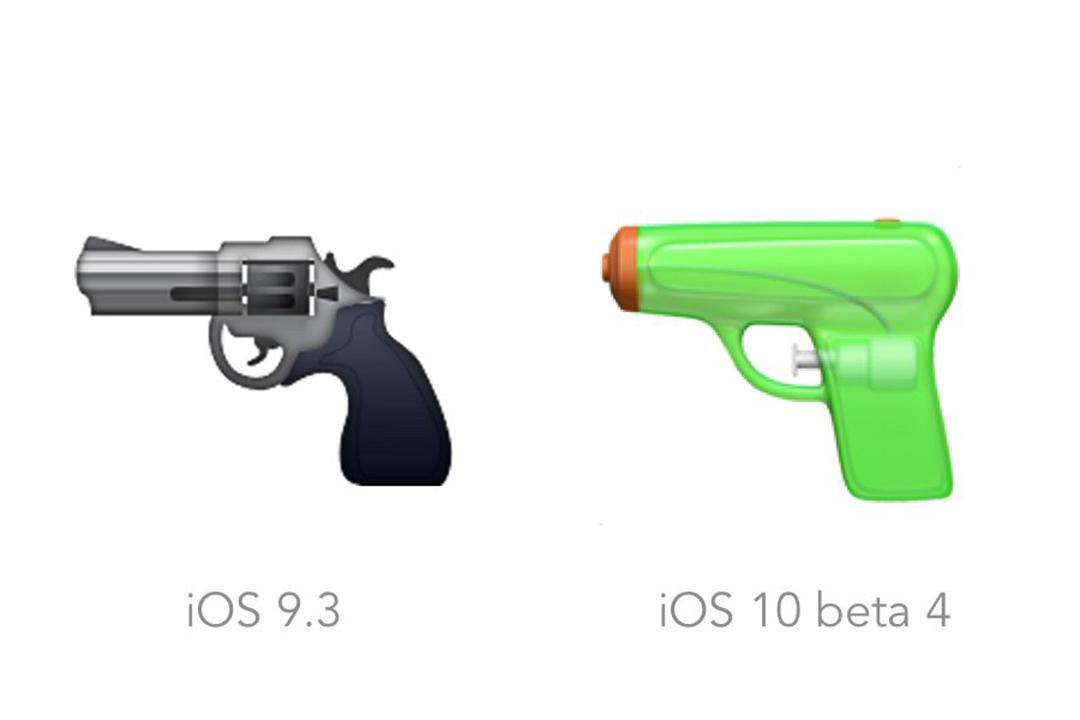 蘋果把手槍表情符號換成水槍。