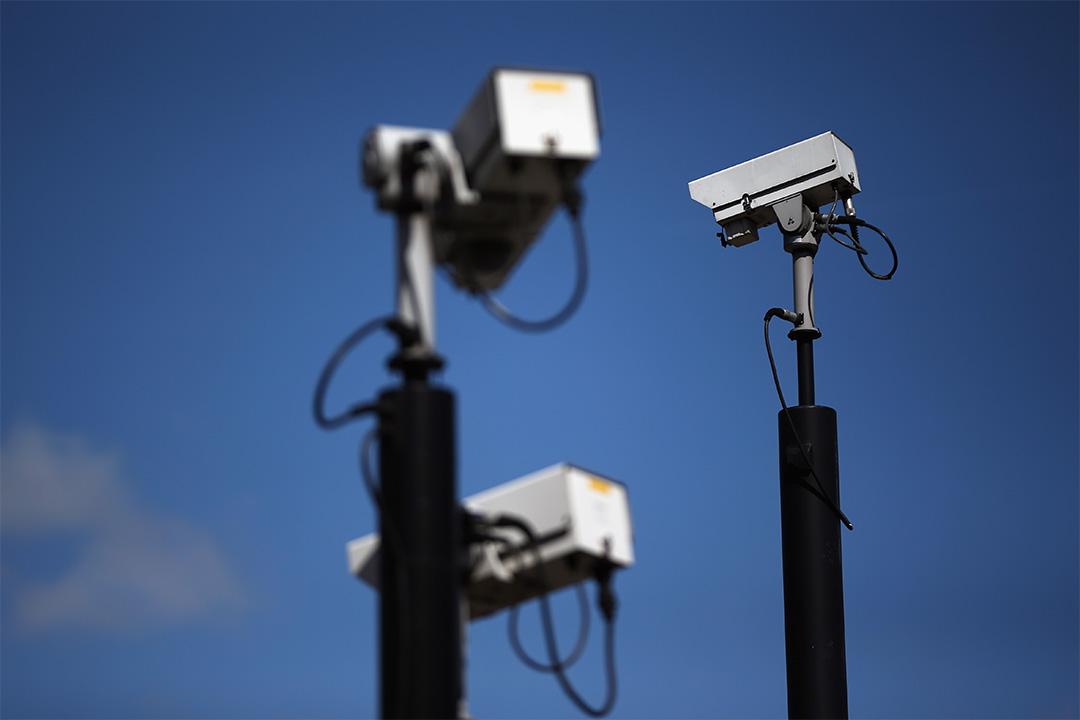 圖為英國倫敦一處的監視器。