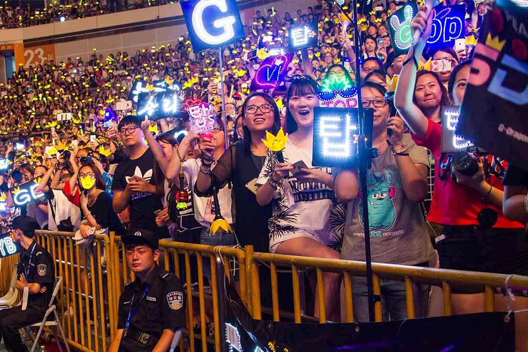 2015年8月9日,南韓國=組合bigbang在南京舉行演唱會。