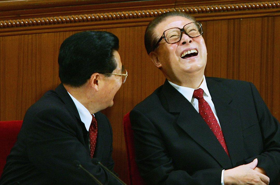 江澤民出席中國抗日戰爭60週年紀念。