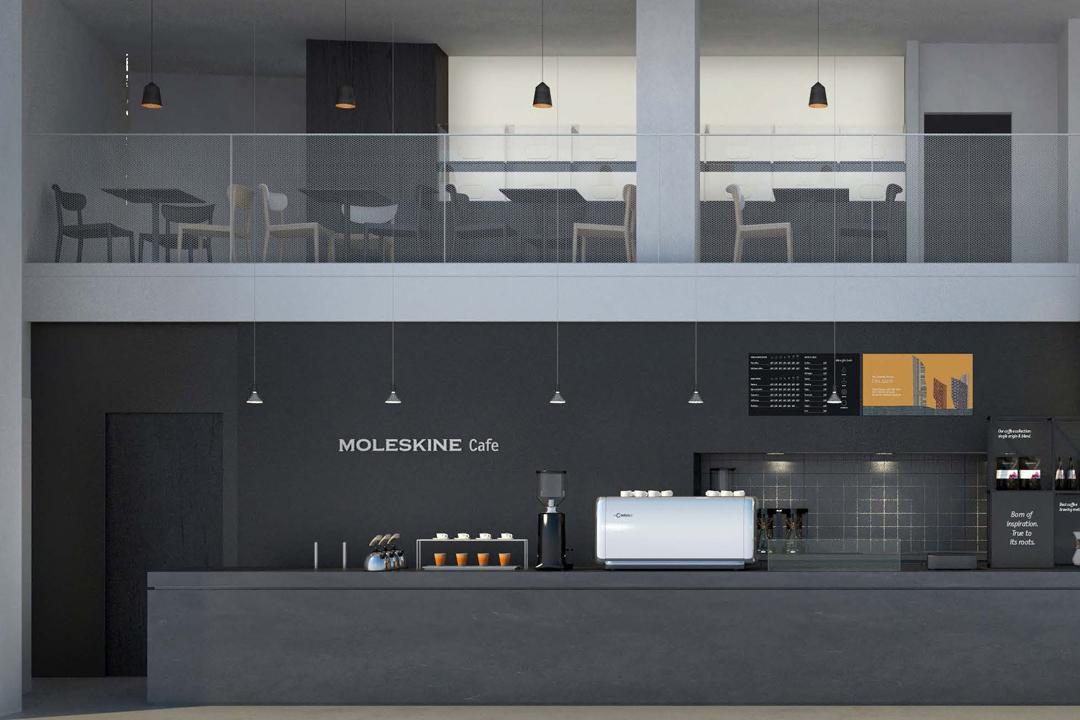 Moleskine位於米蘭的咖啡概念店。