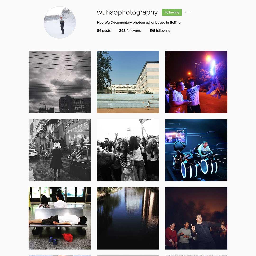 Wu Hao (@wuhaophotography),駐北京攝影師,新聞學專業畢業後以自由攝影師的身份生活於上海和北京等地。