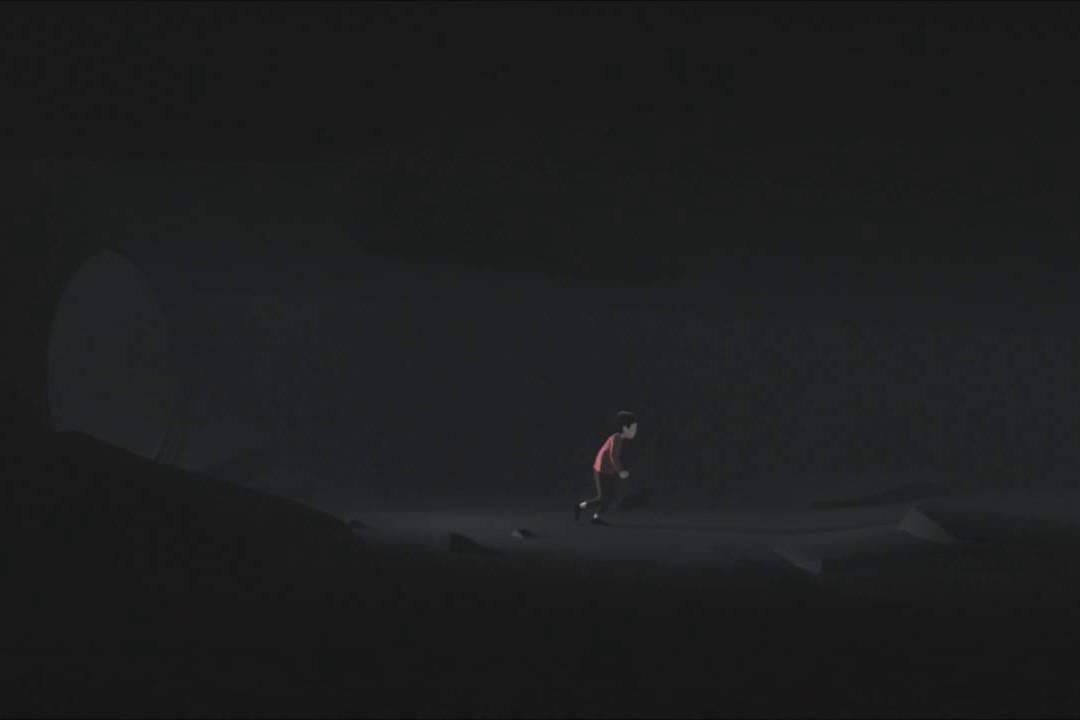 黑暗和孤獨中的小男孩。