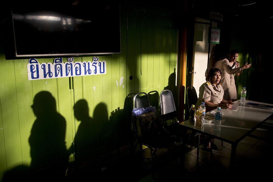 2016年8月7日,泰國曼谷,全民公投新憲法草案票站。