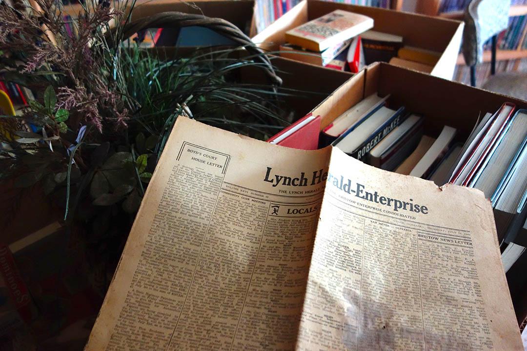 圖書館內40年代的林奇先鋒報。