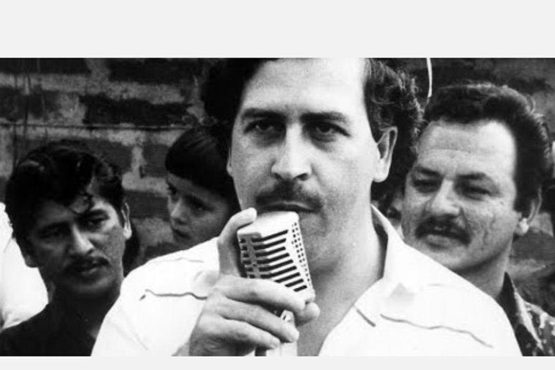 哥倫比亞毒梟巴勃羅·埃斯科瓦爾(Pablo Escobar)。
