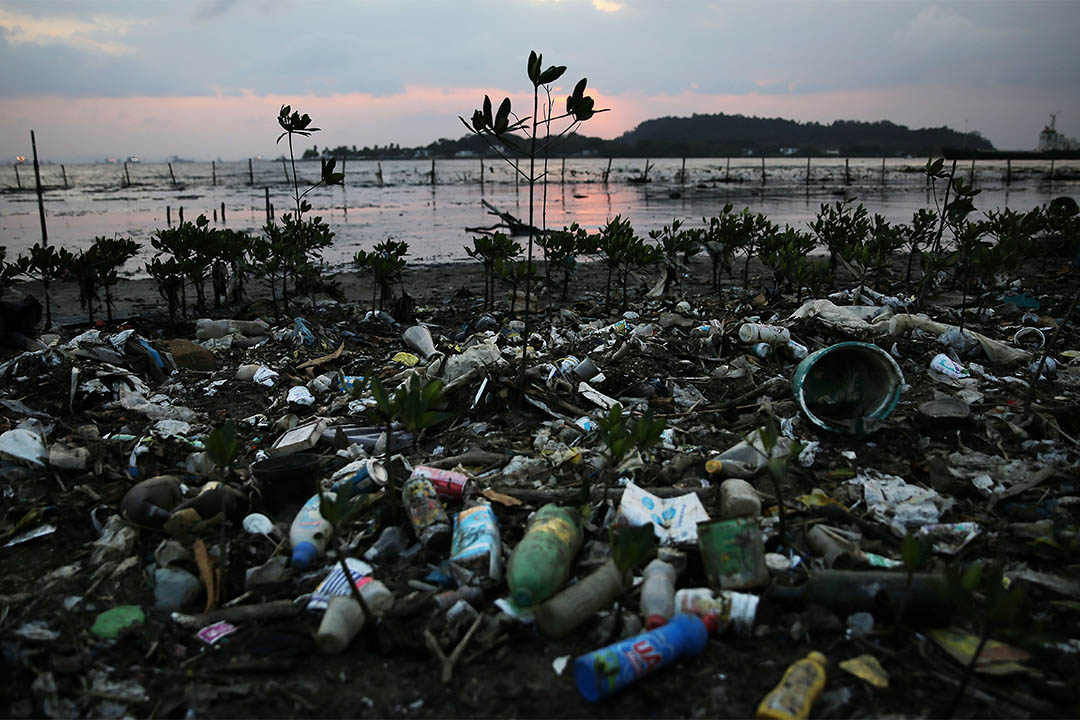 2016年8月2日,巴西里約熱內盧,瓜納巴拉灣的污染情況。