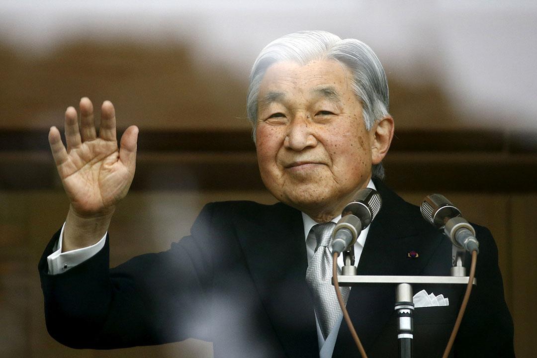 日本天皇明仁。