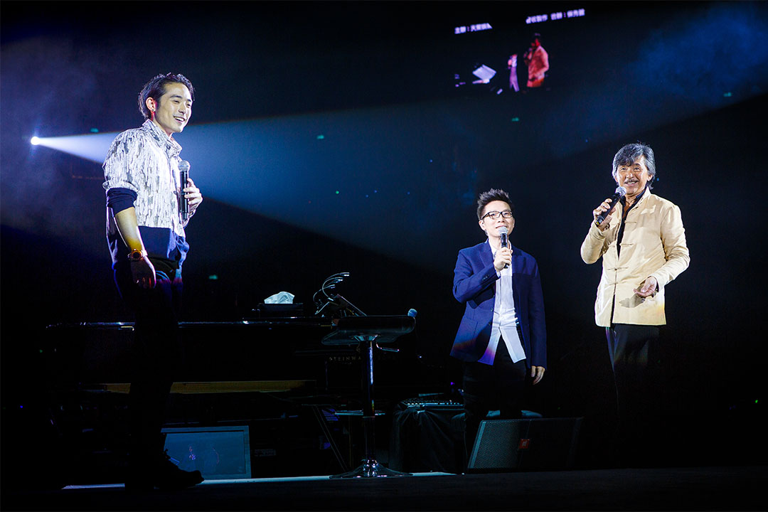 2013年12月21日,歌手林子祥、林德信與著名音樂人趙增熹於澳門舉行演唱會。