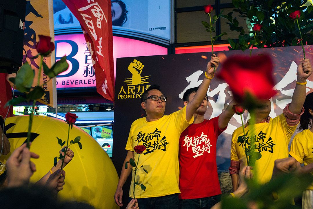 九東候選人人民力量成員譚得志。