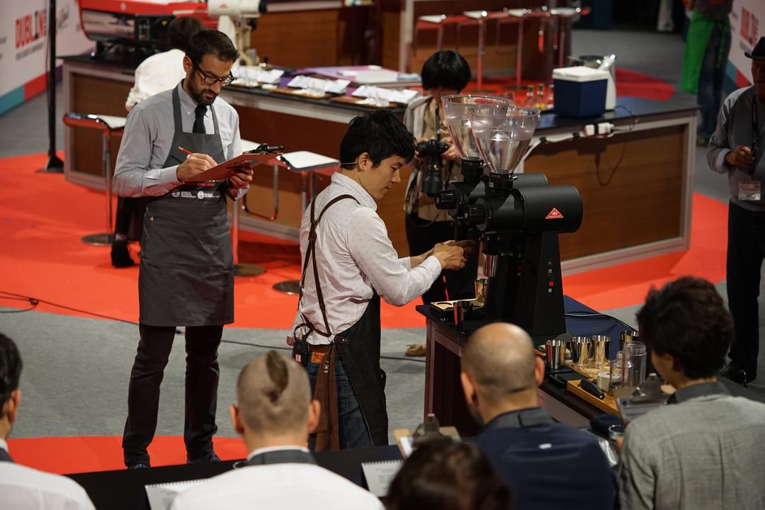2016世界咖啡大師賽現場,準決賽進行中。