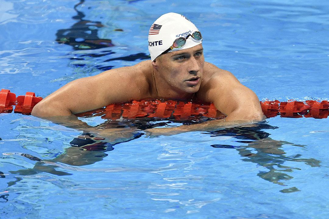 為美國奪得男子4×200米自由泳接力冠軍的瑞安·洛赫特(Ryan Lochte)。