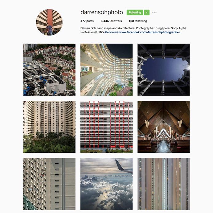 Darren Soh(@darrensohphoto),新加坡景觀和建築攝影師,他的作品獲得許多國際獎項,甚至被新加坡博物館和世界各地蒐藏家蒐藏。