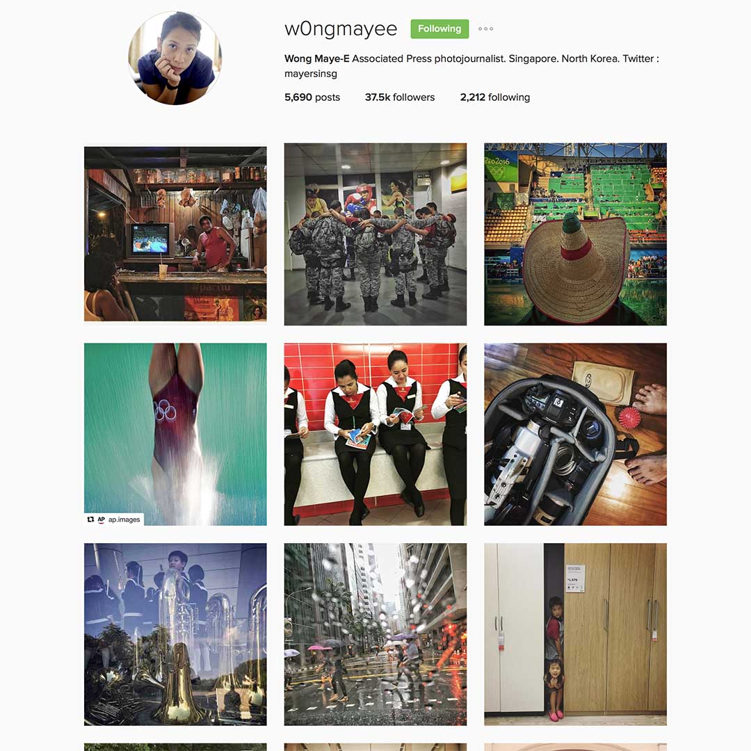 Wong Maye-E (@w0ngmayee),美聯社駐新加坡攝影記者,經常往來北韓作紀錄攝影報導。
