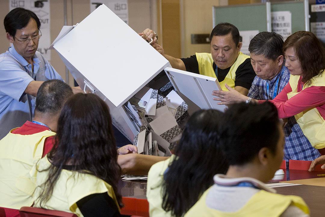 2015年區議會選舉點票。