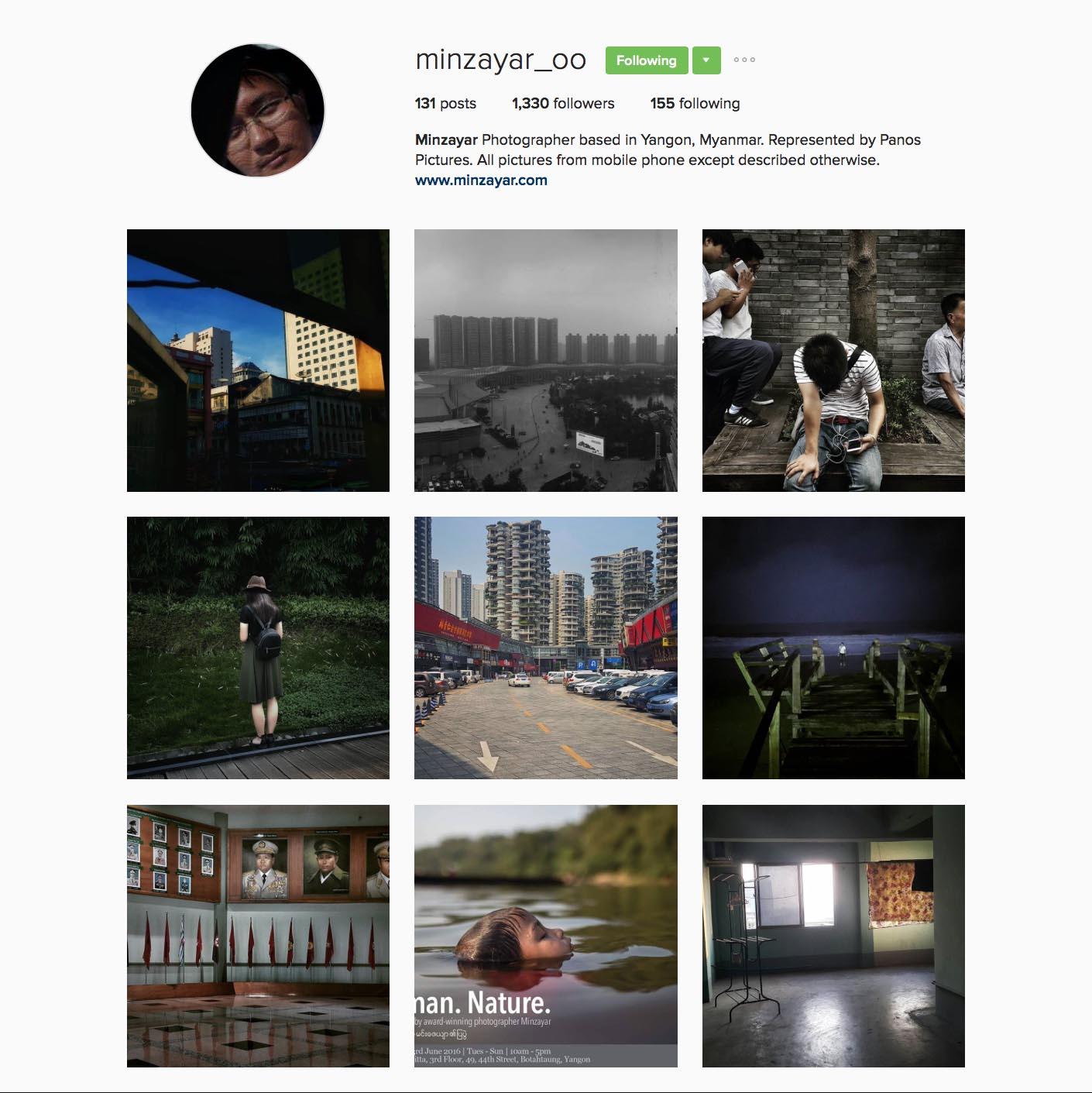 MinZayar Oo(@minzayar_oo),Panos駐緬甸攝影師。曾在仰光攝影節、第九屆中國國際新聞攝影比賽、日本Days Japan國際新聞攝影獎等國際大賽中獲獎。