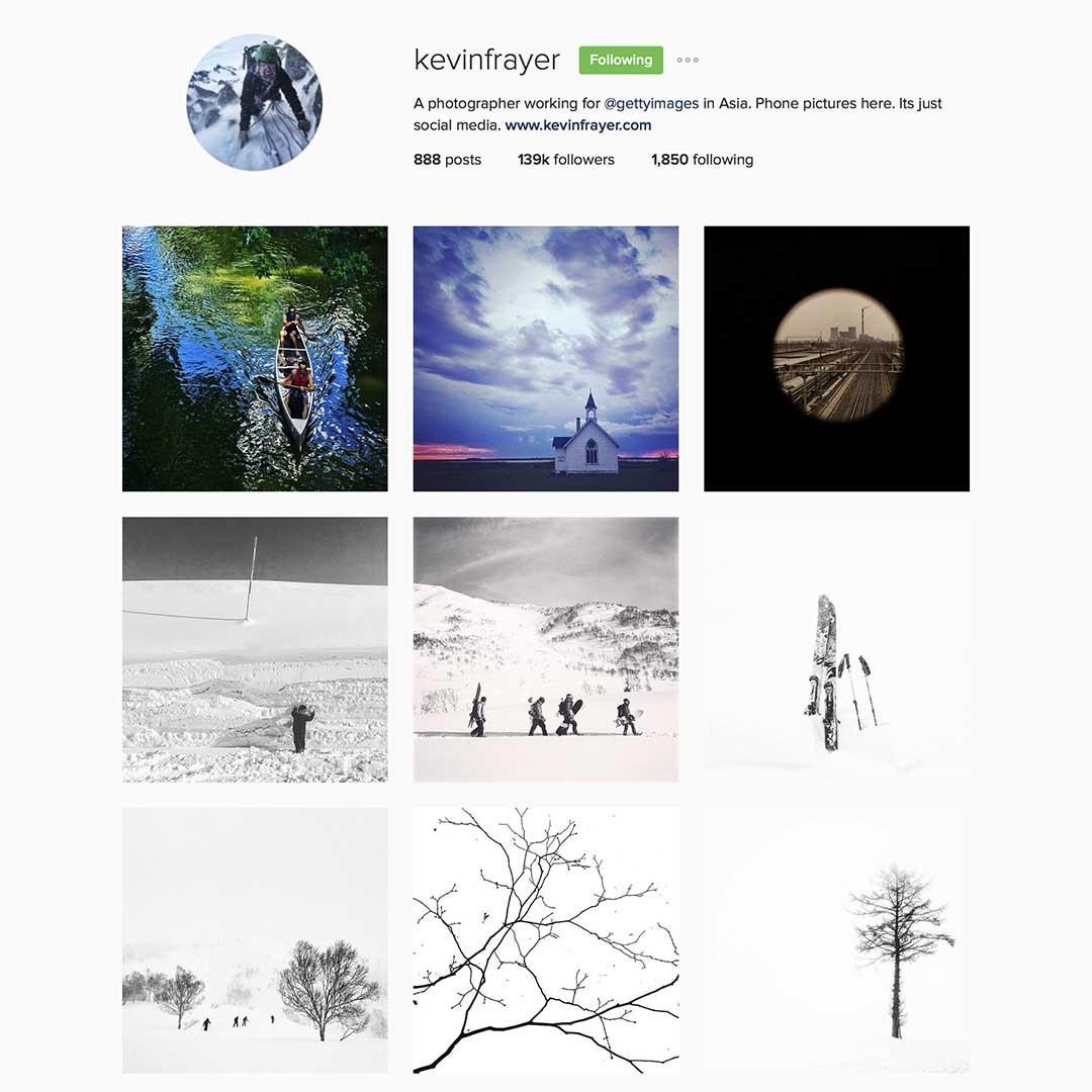 Kevin Frayer (@kevinfrayer),Getty圖片社駐亞洲攝影師,Instagram #eyeonchina創辦成員,曾獲多個世界新聞攝影比賽獎項。