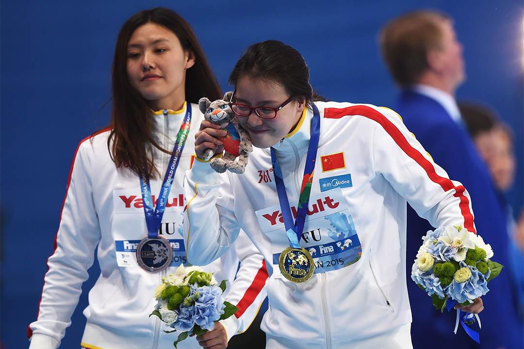 2015年8月6日,傅園慧在俄羅斯世界游泳錦標賽中奪得女子50米背泳金牌。