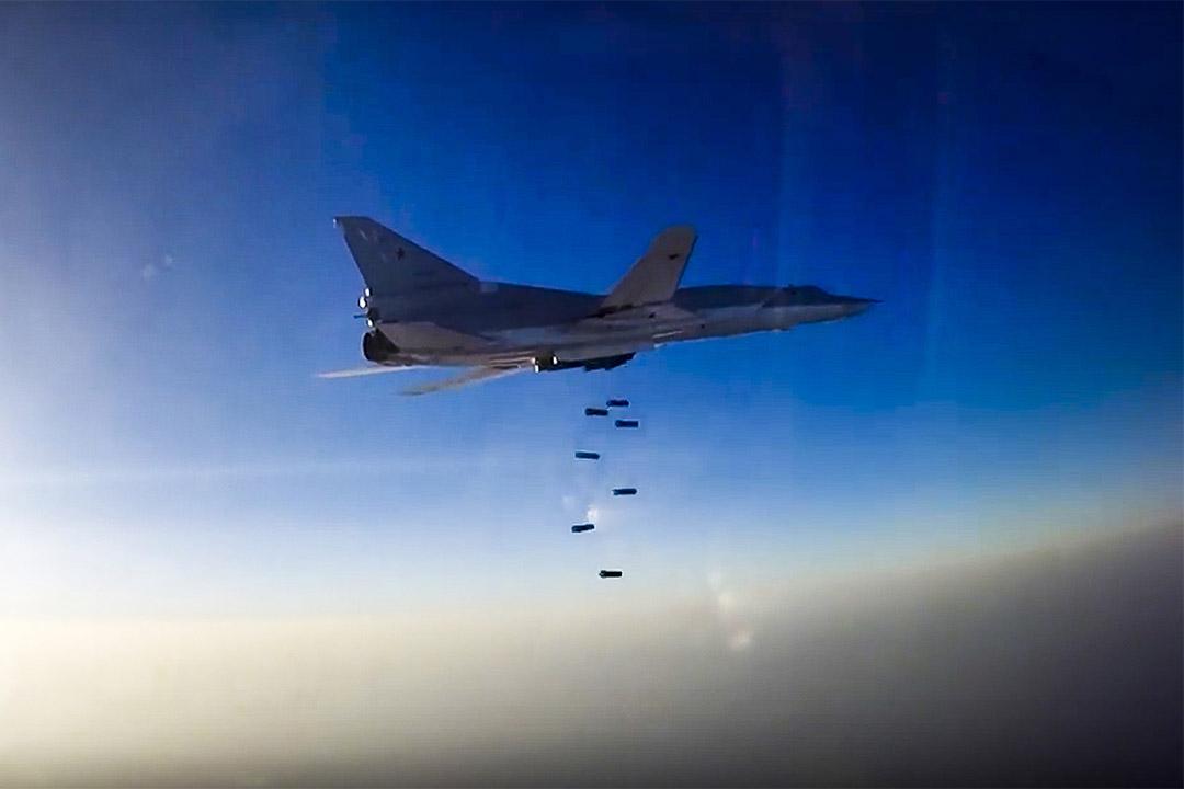 2016年8月16日,俄羅斯戰機對敍利亞阿勒頗發動空襲。