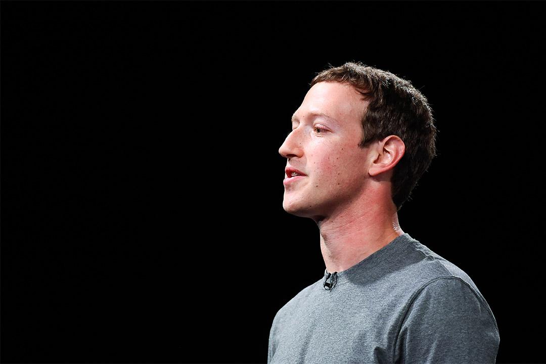 2016年2月21日,西班牙巴塞隆拿,facebook創辦人朱克伯格在一個發佈會上致辭。