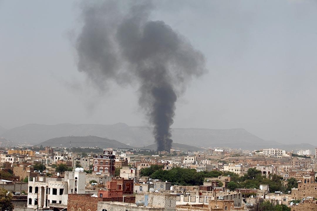 早前沙特空襲也門的一家食物工廠。