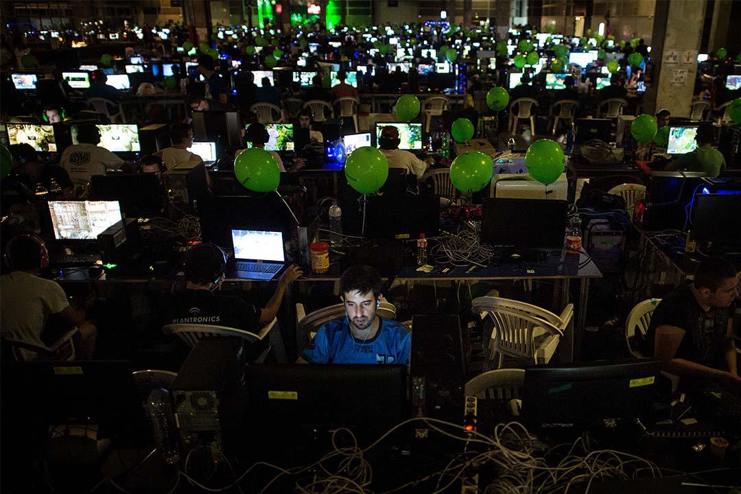 FOCI16大會聚焦網絡審查及用戶安全問題。圖為一個電腦遊戲比賽正在進行。