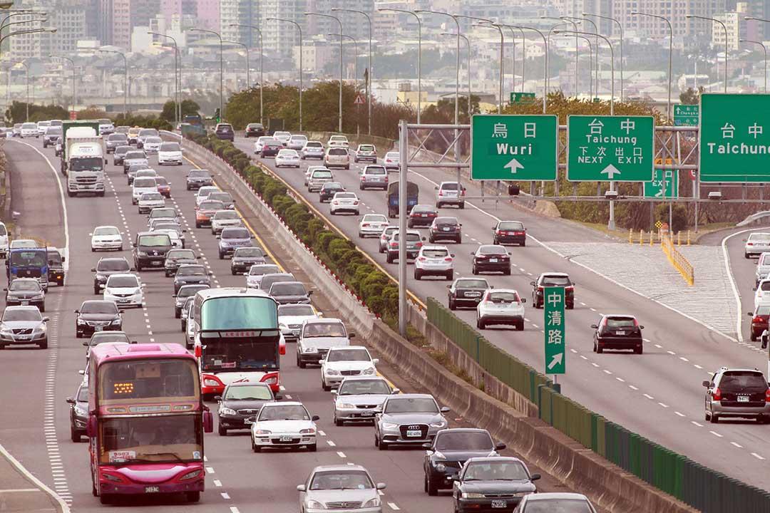 台灣國道收費員兩年抗爭成功。圖為2014年2月4日,農曆新年期間,台灣中部地區國道的路況。