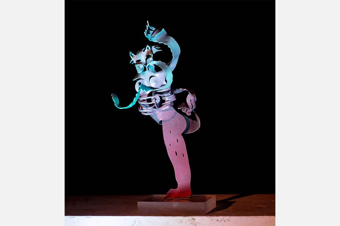 Tøru Harada, Ballet Dancer, Metal and Acrylic Base, 29 x 20 x 11 cm, 2016。