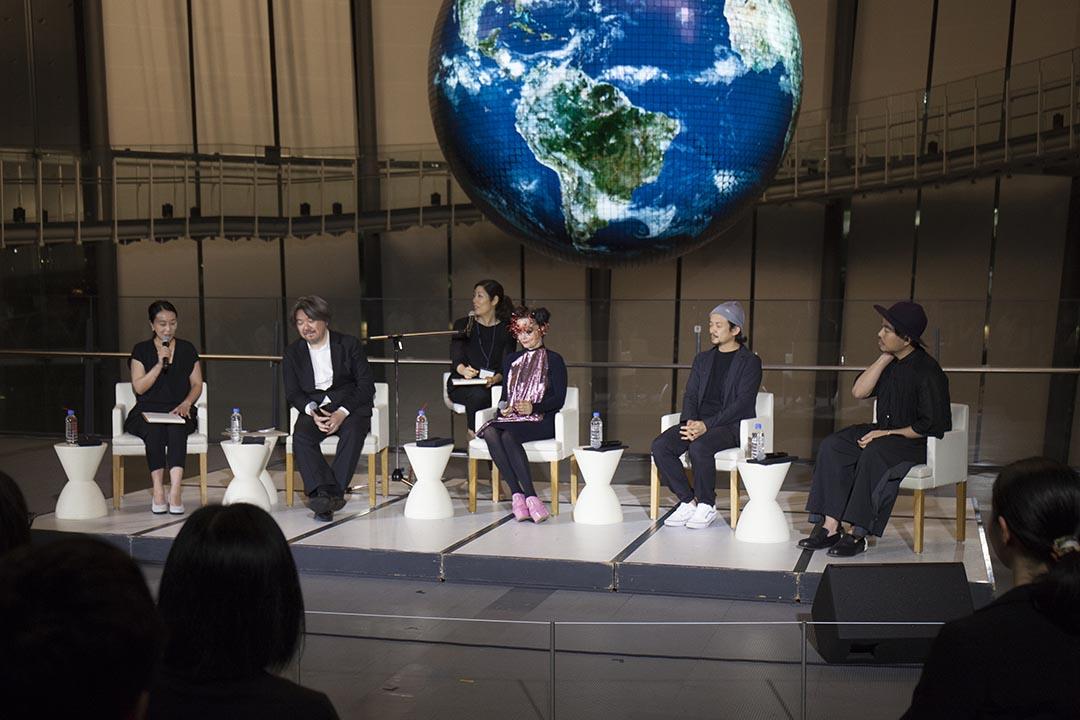 冰島歌姬Bjork在東京舉行的音樂VR展。