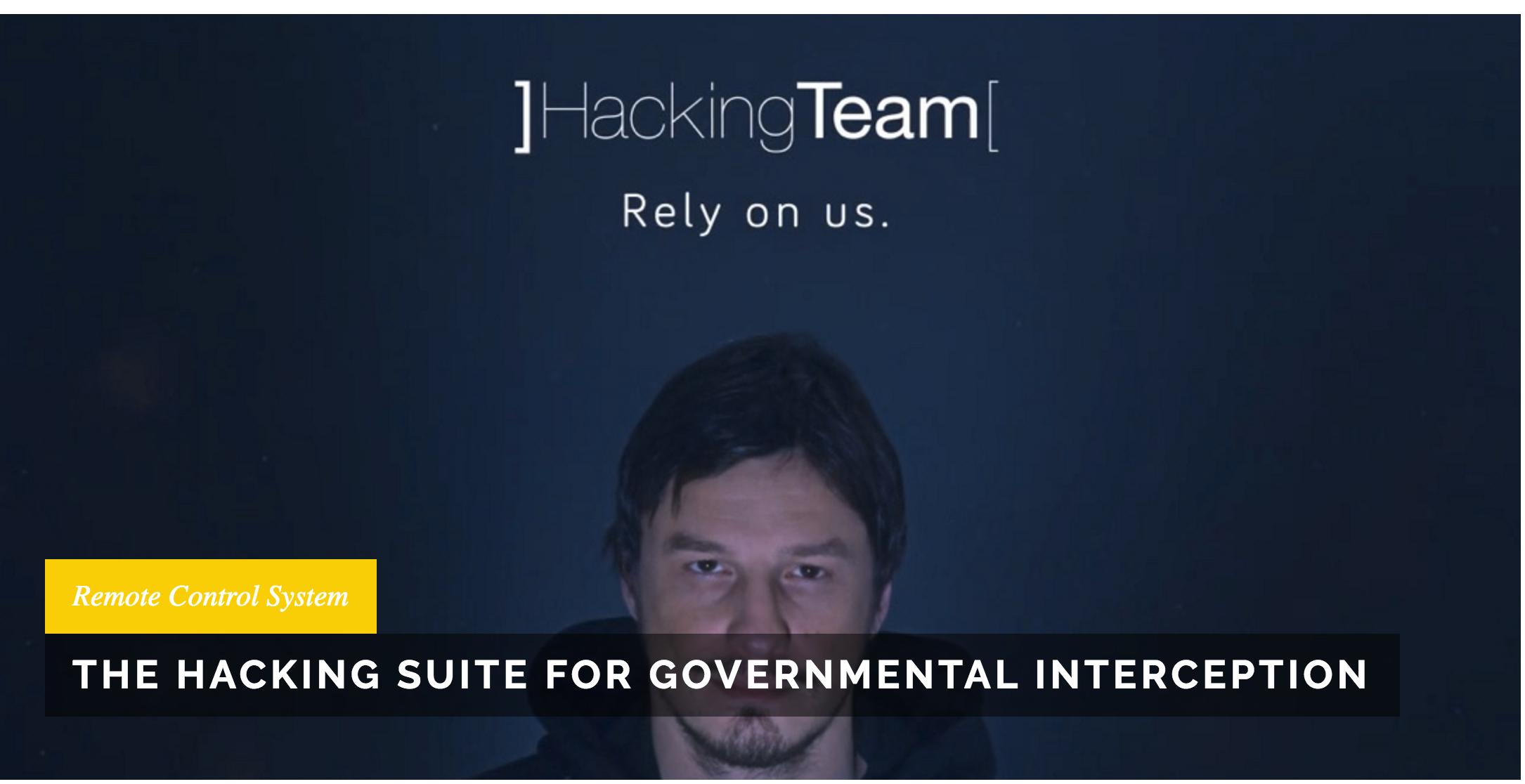 意大利公司黑客團隊(Hacking Team)網頁廣告