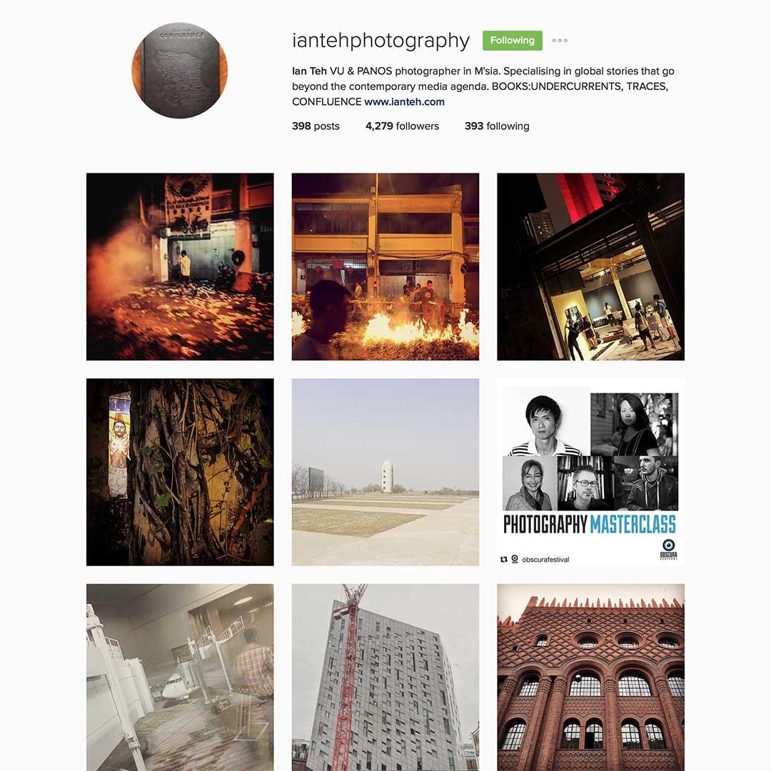 Ian Teh (@iantehphotography),法國VU圖片社和Panos攝影師,為多個國際知名報刊供稿,發表系列作品包括Undercurrents (2008)、 Traces (2011)、Confluence (2014)。