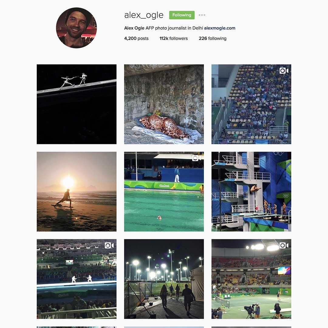 Alex Ogle (@alex_ogle),法新社駐德里攝影師。 2012年至2015年間於法新社香港分部工作,曾獲多個新聞攝影比賽獎項。