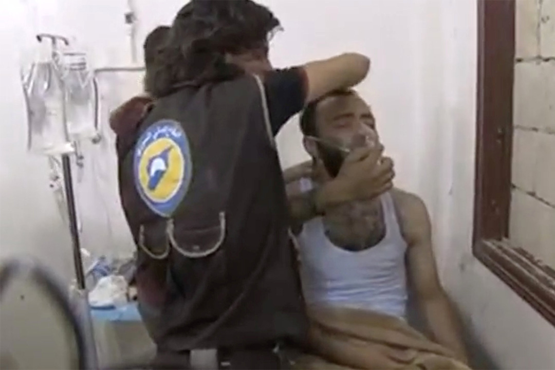敘利亞兩城鎮疑遭化武襲擊。