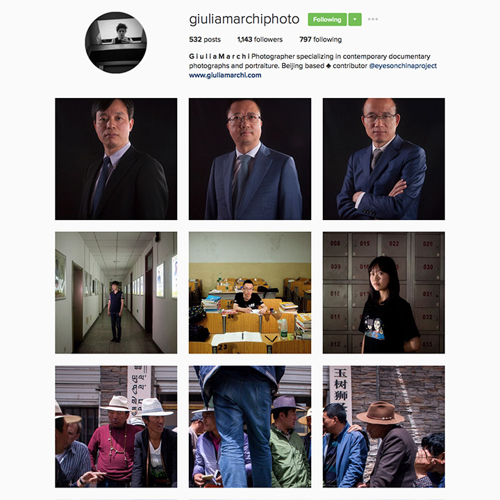 Giulia Marchi(@giuliamarchiphoto),駐北京的義大利當代人像與紀實攝影師,研究東亞文化並且曾在東北非進行研究,讓他的作品注入許多不同色彩。