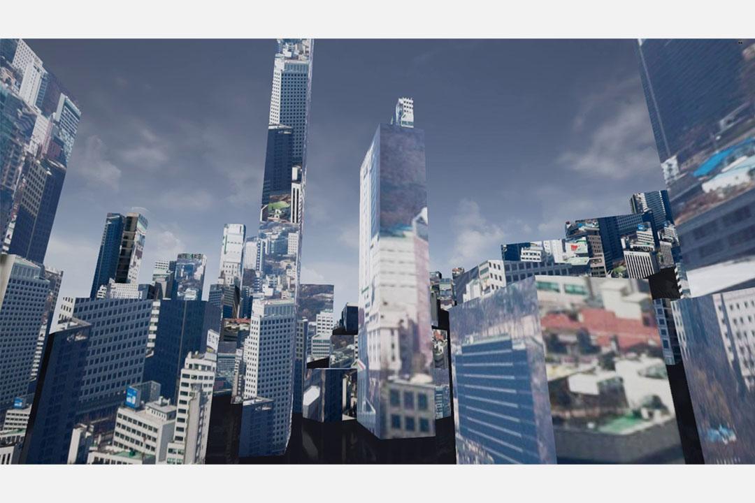 Marc Lee作品《一萬座移動的城市》。