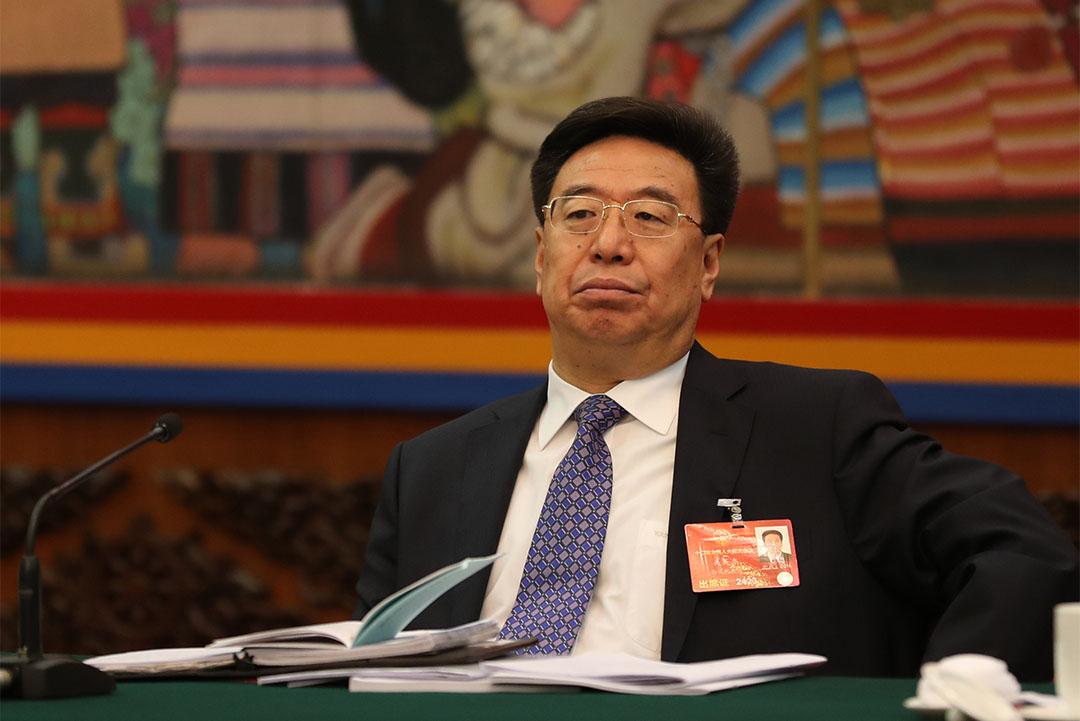 2016年3月7日,吳英傑在北京出席第十二屆全國人民代表大會。