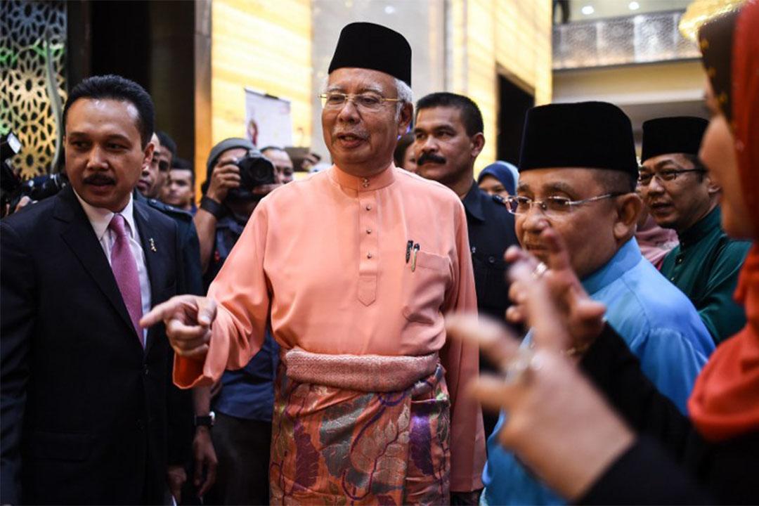 2016年7月21日,馬來西亞首相納吉在吉隆坡出席一個活動。