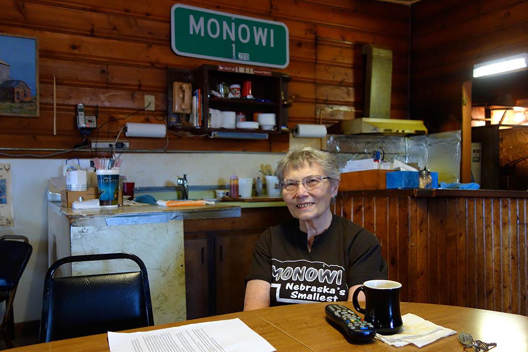 小鎮莫諾維唯一居民85歲的 Elsie Eiler 。