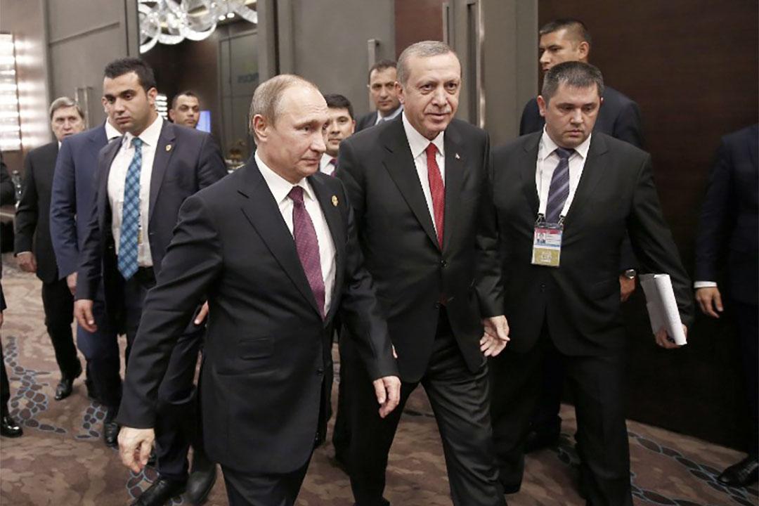 圖為2016年11月16日,普京與埃爾多安在G20峰會上會面。