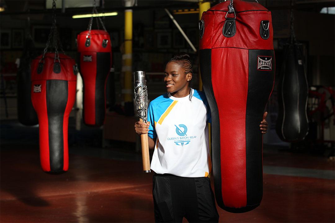 英國拳手Nicola Adams將會參與里約熱內盧奧運。圖為2014年Nicola Adams在英國的一家拳館。