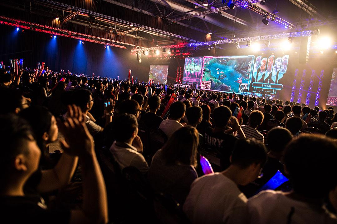 3000名觀眾在佔地一萬平方呎的現場觀看電子競技大賽。