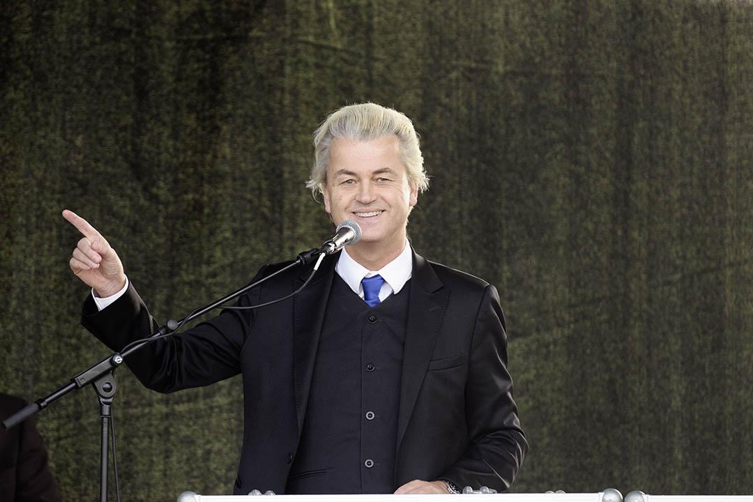 荷蘭極右翼政黨領導人海爾茨·維爾德斯(Geert Wilders)。