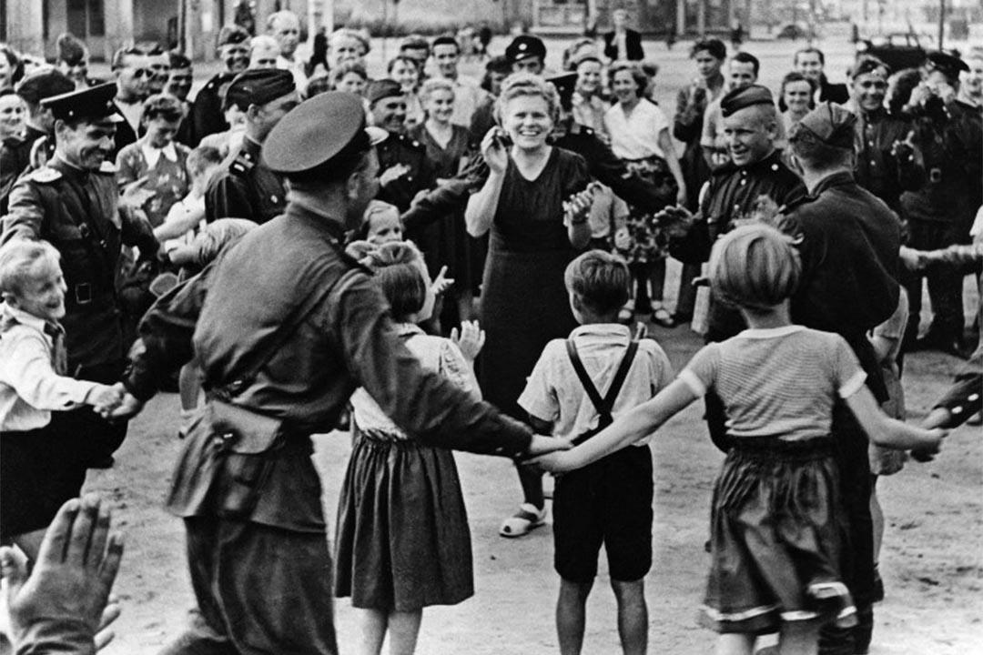 圖為二戰結束後的柏林街頭。